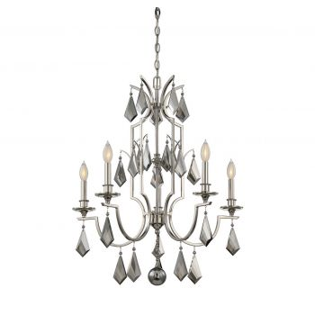 Savoy House Ballard 5-Light Chandelier in Polished Nickel