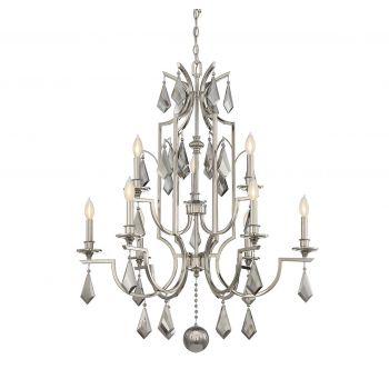Savoy House Ballard 9-Light Chandelier in Polished Nickel