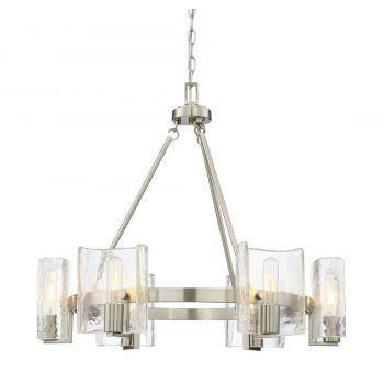 Savoy House Handel 6-Light Chandelier in Satin Nickel