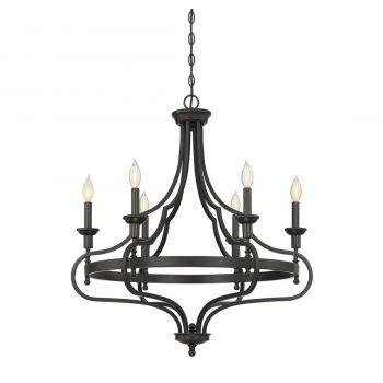 Savoy House Sheilds 6-Light Chandelier in English Bronze