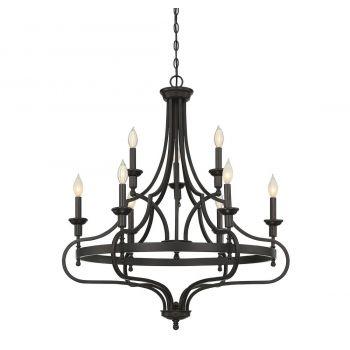 Savoy House Sheilds 9-Light Chandelier in English Bronze