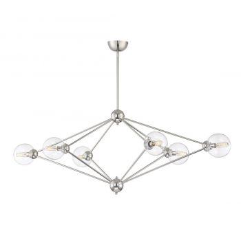 Savoy House Bonn 6-Light Chandelier in Polished Nickel