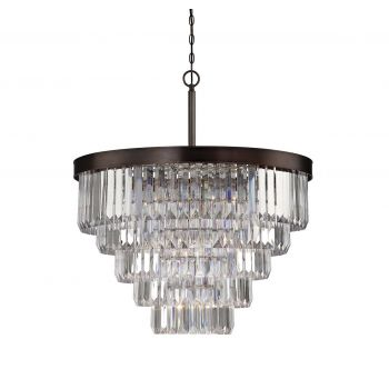 Savoy House Tierney 9-Light Chandelier in Burnished Bronze