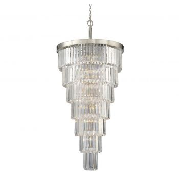 Savoy House Tierney 19-Light Chandelier in Polished Nickel