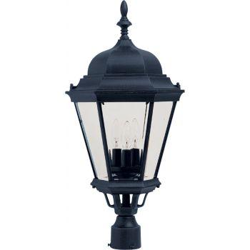 "Maxim Lighting Westlake 3-Lt 28"" Outdoor Post Mount, Black"