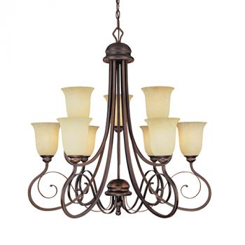 Millennium Lighting Chateau 9-Light Chandelier in Rubbed Bronze
