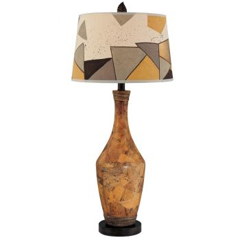 Minka Lavery Ambience Hand Painted Ceramic Table Lamp in Brown