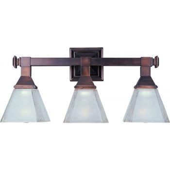 Maxim Lighting Brentwood 3-Light Bath Vanity in Bronze