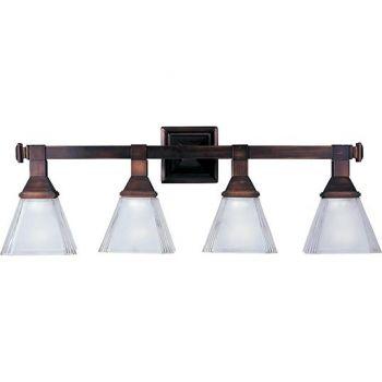 Maxim Lighting Brentwood 4-Light Bath Vanity in Oil Rubbed Bronze