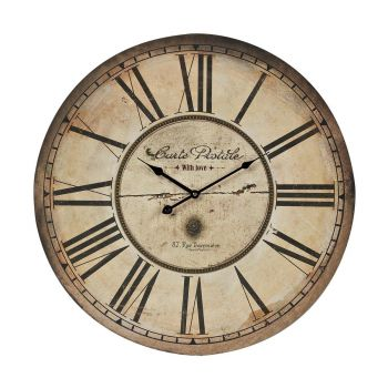 Sterling Industries Carte Postal Clock in Antique Cream