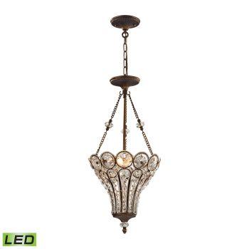"""Elk Lighting Christina 13"""" 3-Light LED Chandelier in Mocha"""