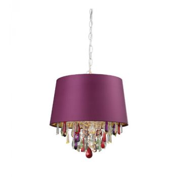 Sterling Industries Purple Drum Pendant Light