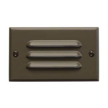 "Kichler Step and Hall 4.5"" LED Step Light in Architectural Bronze"