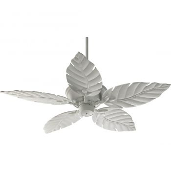 "Quorum Monaco 52"" 5-Blade Patio Fan in Studio White"