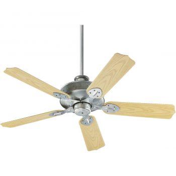 """Quorum Hudson 52"""" 5-Blade Patio Fan in Galvanized"""
