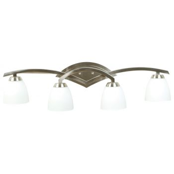 Craftmade Viewpoint 4-Light Bath Vanity in Brushed Nickel w/Cased Glass
