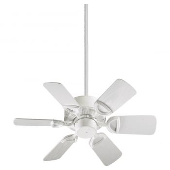 "Quorum Estate Patio 30"" 6-Blade Patio Fan in White"