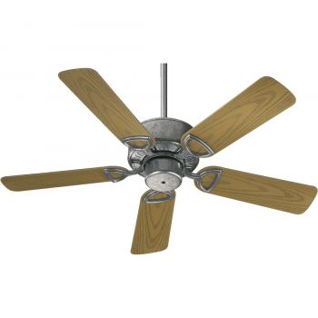 """Quorum Estate Patio 42"""" 5-Blade Patio Fan in Galvanized"""