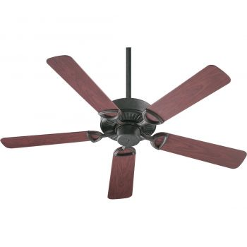 """Quorum Estate Patio 52"""" 5-Blade Patio Fan in Toasted Sienna"""
