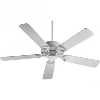 "Quorum Estate Patio 52"" 5-Blade Patio Fan in White"