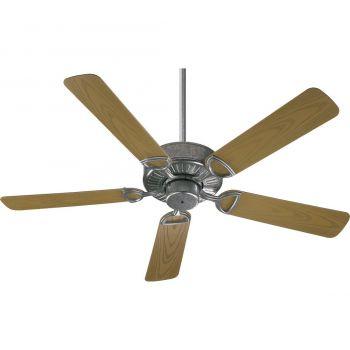"""Quorum Estate Patio 52"""" 5-Blade Patio Fan in Galvanized"""