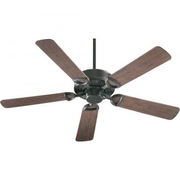 "Quorum Estate Patio 52"" 5-Blade Patio Fan in Old World"