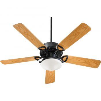 "Quorum Estate Patio 52"" 2-Light Patio Fan in Matte Black"