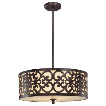 Minka Lavery Nanti 3-Light Chandelier in Iron