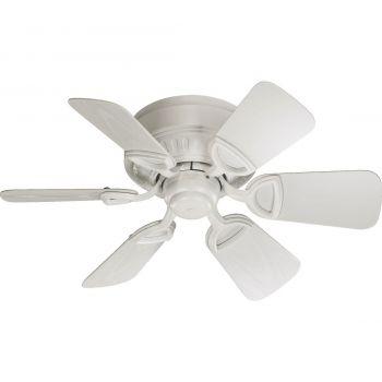 "Quorum Medallion Patio 30"" 6-Blade Patio Fan in Studio White"