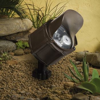 Kichler Landscape 60 Deg LED Accent in Bronzed Brass