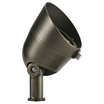 Kichler Landscape LED 500 Lumen 3000k Wide Outdoor Flood Light in Centennial Brass