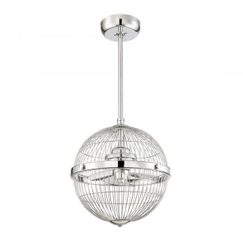 """Savoy House Arena 17"""" Pendant Fan in Chrome"""