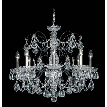 Schonbek Century 8-Light Clear Crystal Chandelier in Heirloom Bronze