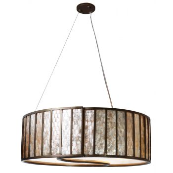 Varaluz Sustainable Shell Affinity Drum Pendant - Five Light