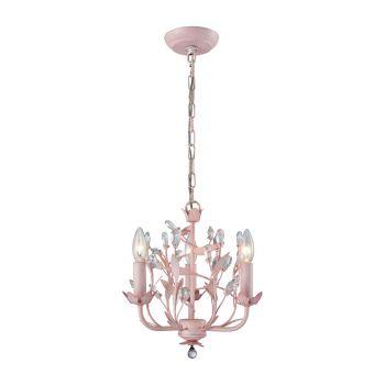 """Elk Lighting Circeo 13"""" 3-Light Chandelier in Light Pink"""
