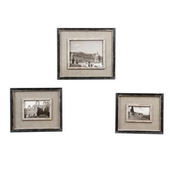 Uttermost Kalidas Set of 3 Cloth Lined Photo Frames