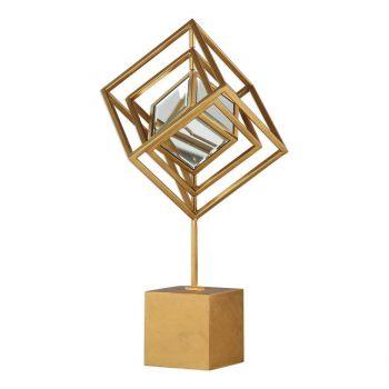 "Uttermost Venya 23.75"" Sculpture in Antique Metallic Gold"
