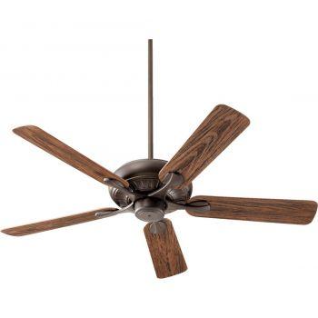 "Quorum Pinnacle Patio 52"" 5-Blade Patio Fan in Oiled Bronze"