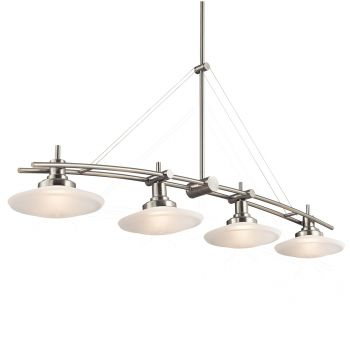 "Kichler Structures 4-Light 9"" in Brushed Nickel"
