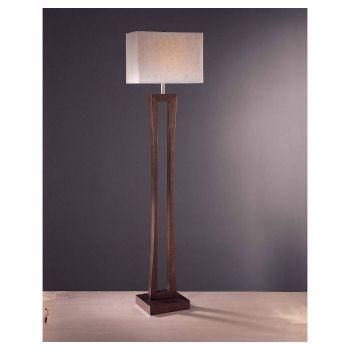 Minka Lavery 1-Light Floor Lamp in Metropolitan Cherry