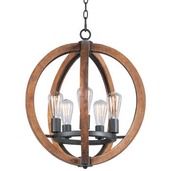 Maxim Lighting Bodega Bay 5-Light Chandelier in Anthracite