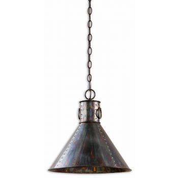 Uttermost Levone Oxidized Bronze Drum Pendant