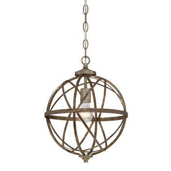 Millennium Lighting Lakewood 1-Light Pendant in Antique Silver