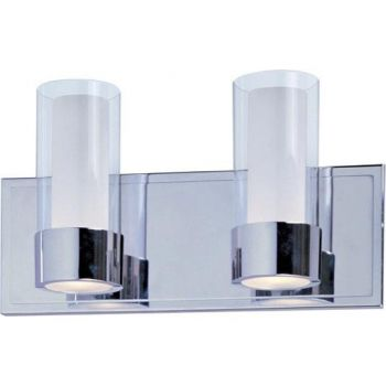 Maxim Lighting Silo 2-Light Bath Vanity in Polished Chrome