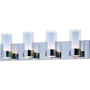 Maxim Lighting Silo 4-Light Bath Vanity in Polished Chrome