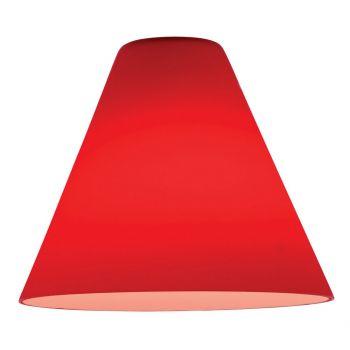 Access Lighting Inari Silk Red Glass Martini Pendant Shade