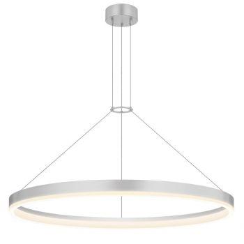"Sonneman Corona 31.5"" LED Ring Pendant in Bright Satin Aluminum"