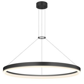 """Sonneman Corona 31.5"""" LED Ring Pendant in Satin Black"""