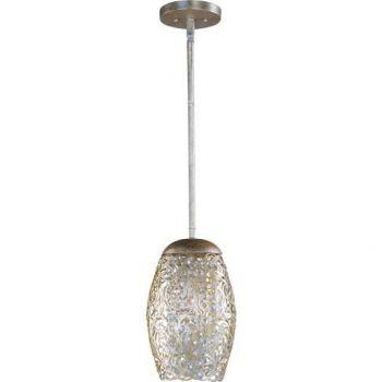 Maxim Lighting Arabesque 1-Light Mini Pendant in Golden Silver