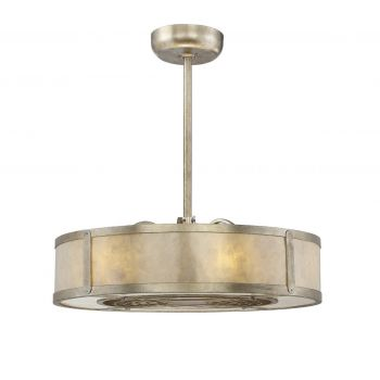 """Savoy House Vireo 26"""" Air Ionizing Fan D'lier in Silver Dust"""
